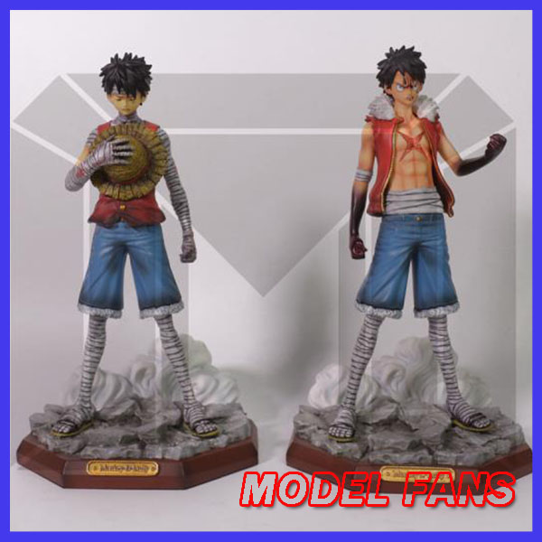 MODEL FANS IN-STOCK one piece 23cm Bloody luffy Deluxe Edition GK resin statue contain two body figure toy for collection model fans in stock 40cm one piece edward newgate fighting pose gk resin statue for collection
