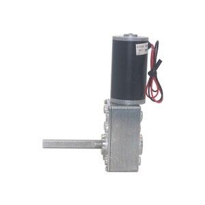 Image 5 - Engranaje de tornillo sin fin DC12V 24V, engranaje de tornillo sin fin, reducción invertida tipo D Eje largo, engranaje de tornillo sin fin, Motor de cortina, 5840 31zy