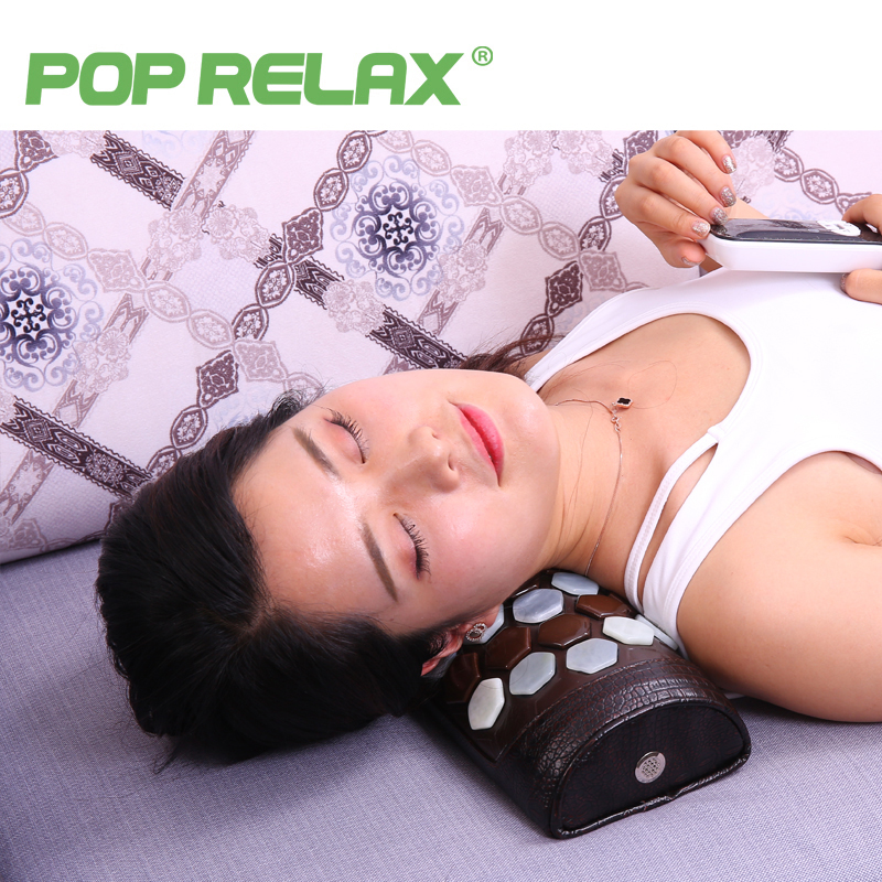 POP RELAX Health stone pillow jade germanium tourmaline neck waist pain relief physical traction natural stone massage pillow soft laser healthy natural product pain relief system home lasers