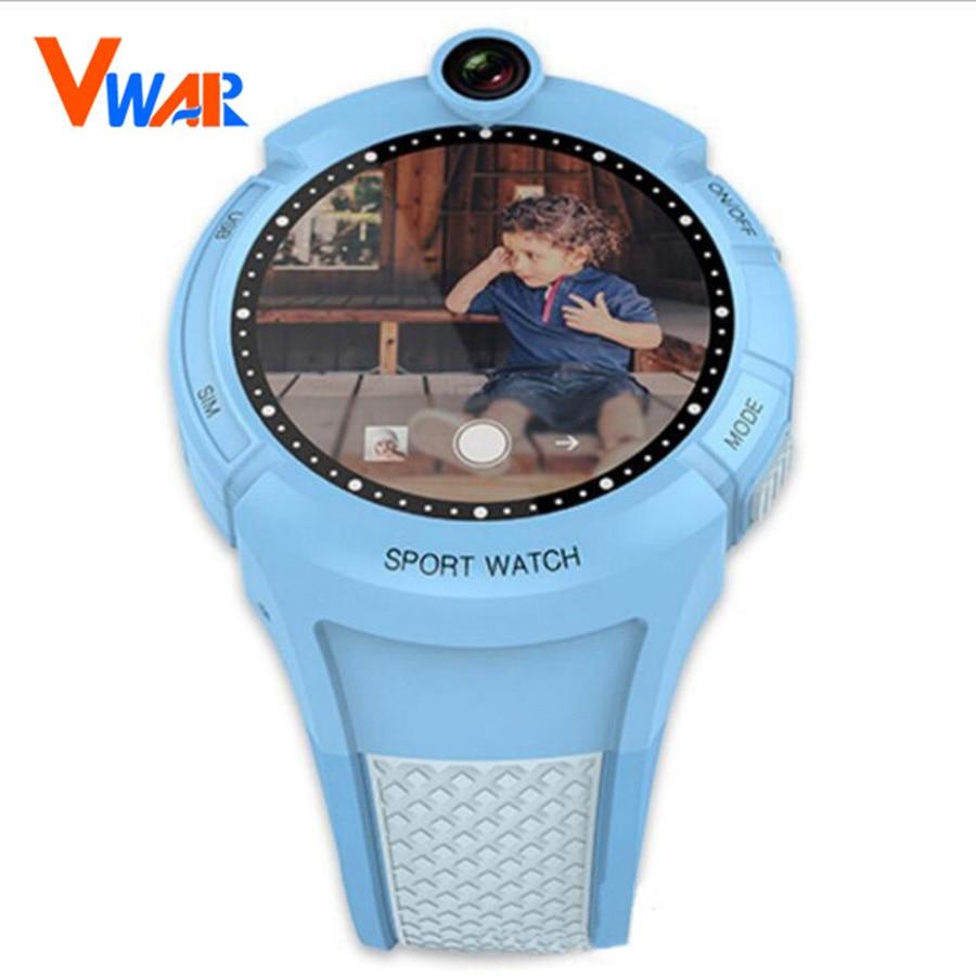 imágenes para 2017 más reciente vwar kids smart watch con cámara lighing seguro de localización gps tracker sos call monitor anti-perdida niño smartwatch