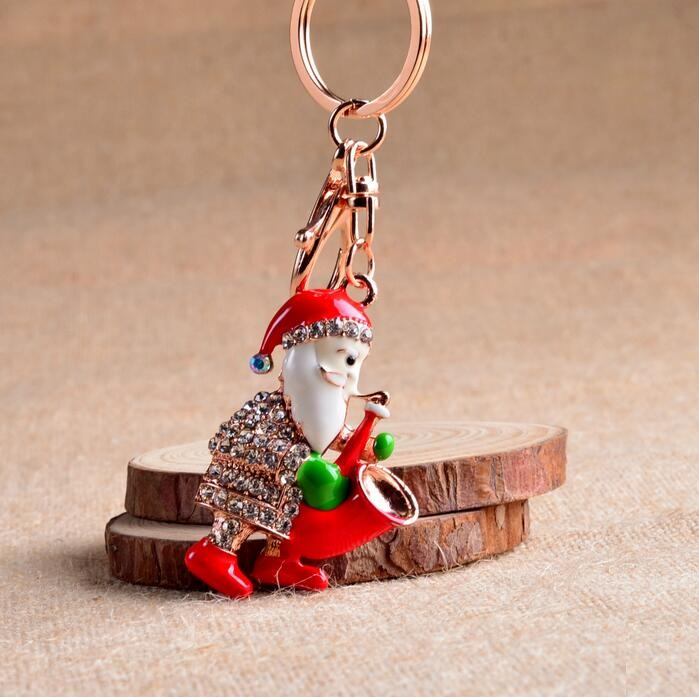 New Key chain Luxury Santa Claus Keychain Key Chain Key Ring Holder Keyring  Gift Women Men Bag Pendant wholesale YS00144-in Key Chains from Jewelry ... 14d20c950a