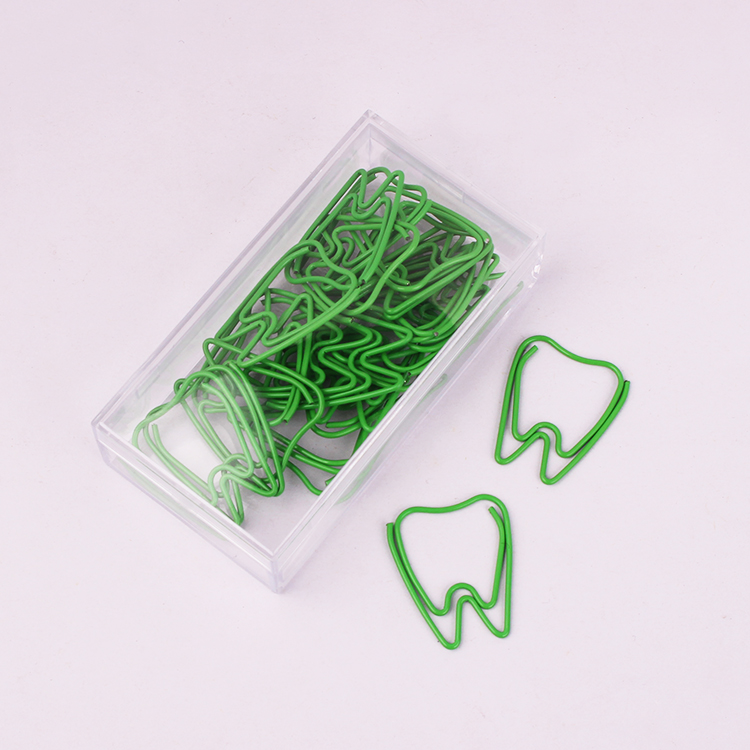 Tooth Shaped Paper Clips Pin Paper Clips Decorative Paperclip Cute Office Clips Kawaii Stationery Office Kawaii Paper Clips