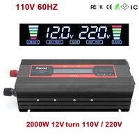 VEHEMO DC12V To AC110V/220V Converter Adapter Vehicle Car Inverter Auto Inverter Outdoor Solar Power Inverter Charger