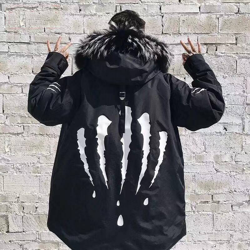 Drop Shipping Men   Parkas   Winter Jacket Fur Hooded Coat Jacket Mens   Parka   Padded Thick Warm Coats Winter Coats Men Jacket Winter