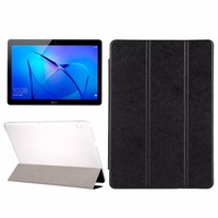 Huawei MediaPad T3 10 9 6 Inch Silk Texture Horizontal Flip Leather Case With 3 Folding