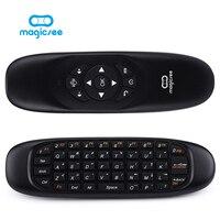 C120 все в одном 2.4 г Air Mouse Перезаряжаемые Беспроводной дистанционный пульт клавиатура для Android ТВ Box Компьютер Русский Английский Версия