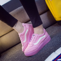 Spring New Women Shoes Flat With Lace-Up Canvas Shoes Fashion Casual Female Candy Color Women Shoes Superstar Shoes Female