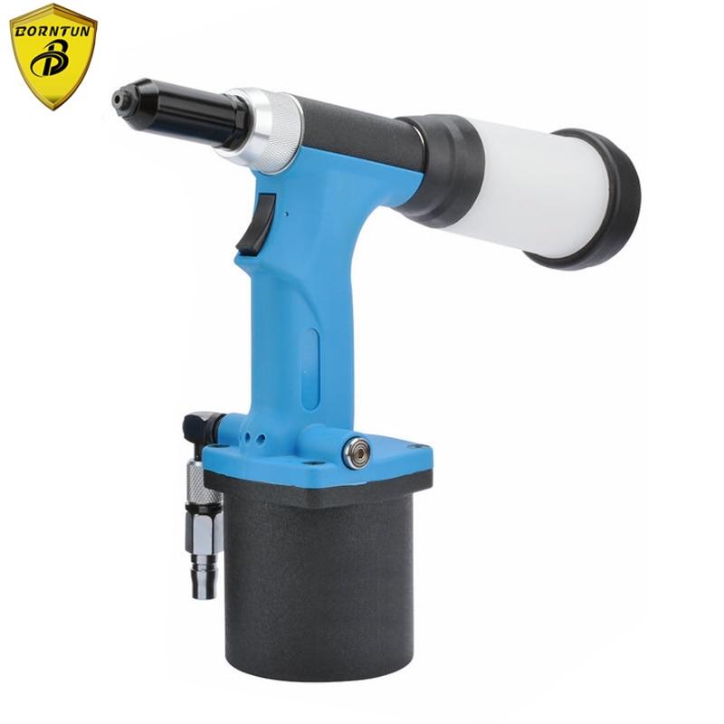 Borntun Air Riveter Industrial Pneumatic Air Hydaulic Riveters Rivet 2.4mm 3.2mm 4.0mm 4.8mm Air Power Riveting Pull Puller Tool
