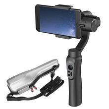 2018 Рождество ручной 3 оси Gimbal стабилизатор Дистанционное управление селфи свет для смартфонов iPhone 7 P 6 s 6 плюс Samsung S7 S6