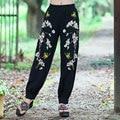 La moda de Nueva Retro 2017 Otoño Primavera Loose Harem Pockets Negro Elástico de Cintura Alta Mujeres Pantalones Pantalon Femme