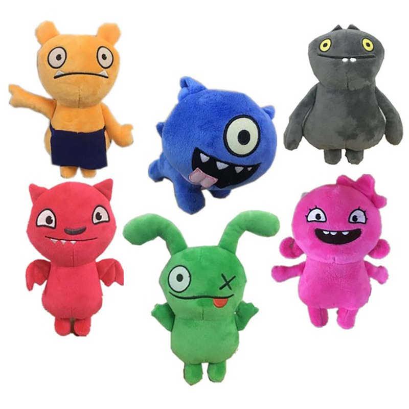 Nova chegada 18cm uglydoll dos desenhos animados anime boi moxy babo brinquedo de pelúcia uglydog macio pelúcia bonecas feio presentes para crianças