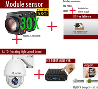 HIKVISION 30X Zomm HD 960P PTZ IP Auto Tracking High Speed Dome CCTV Camera Support Audio