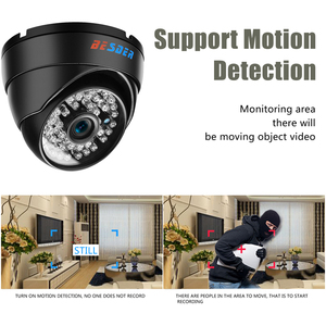 Image 4 - BESDER geniş açı 2.8mm Vandal geçirmez 1080P IP kamera Dome su geçirmez 48 adet IR LED kapalı açık ağ IP kamera IR kesim ONVIF