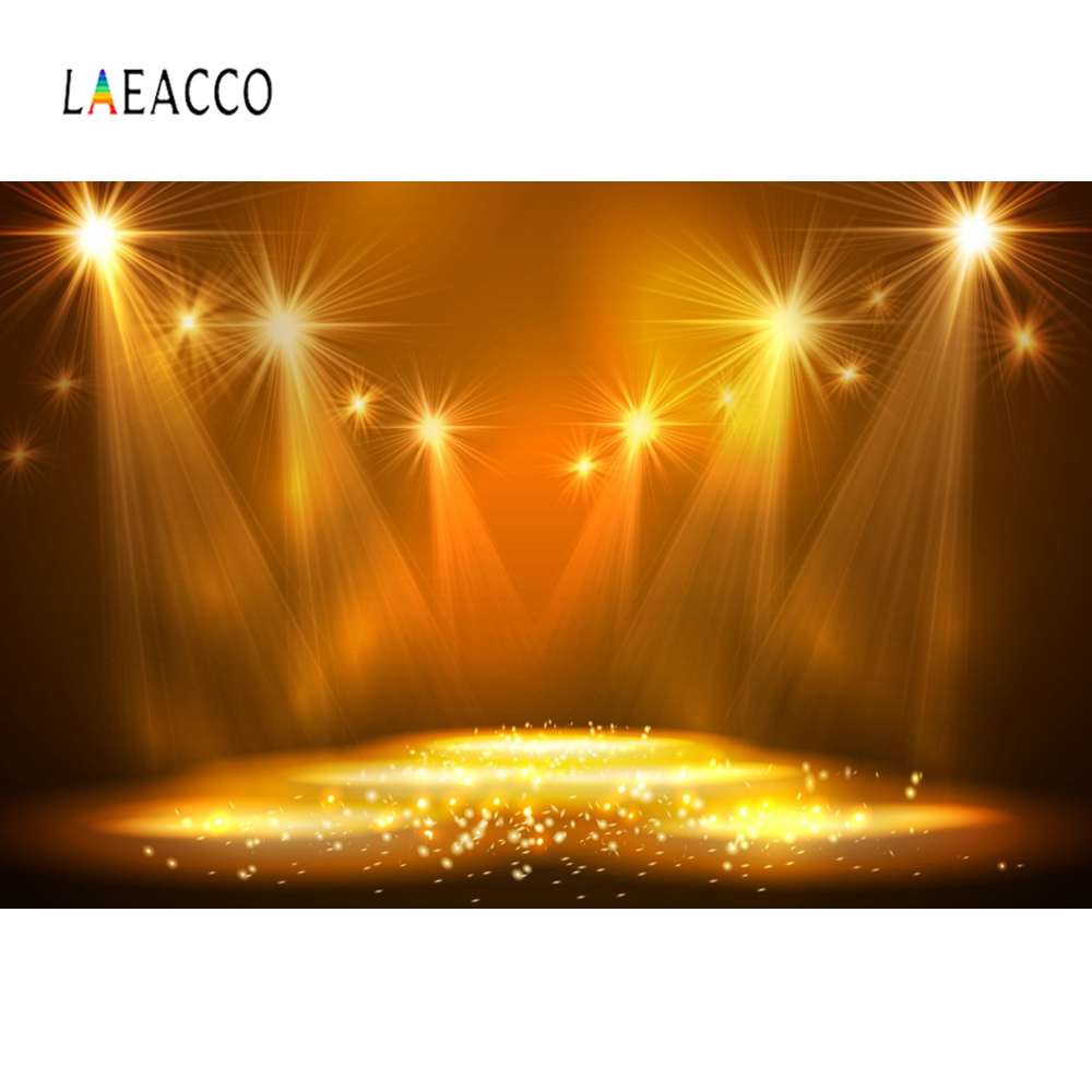Laeacco Stage Background Brilliant Shiny Spotlight Polka Dots Light Bokeh Portrait Photographic Backdrop Photocall Photo Studio