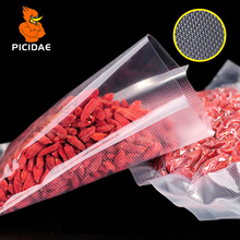 With Line Embossing Vacuum Clear Cooked Food Saver Packaging Bag Meat Snacks Hermetic Storage Heat Sealing Plastic Package Pouch