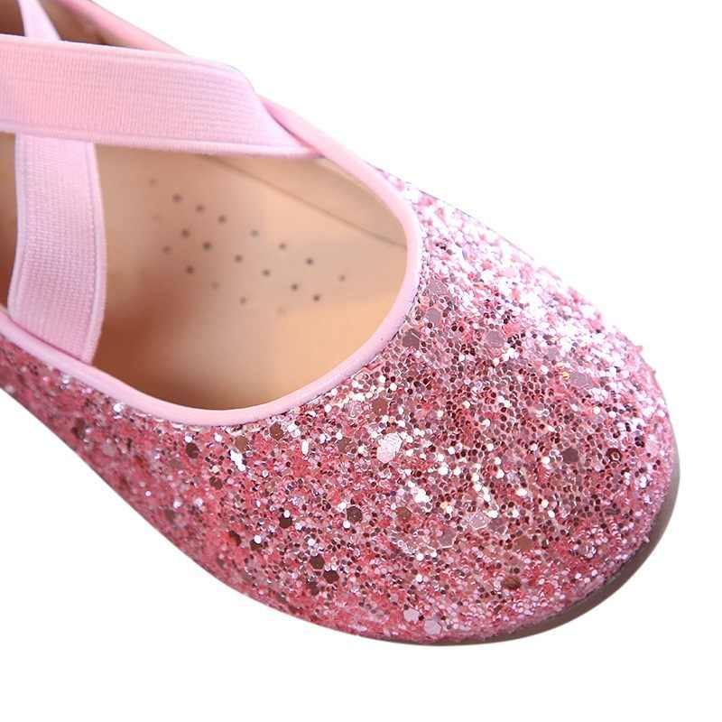 Bebek Kız Ayakkabı Bale düz ayakkabı Düğün Parti Prenses Elbise Ayakkabı Için Kız Için
