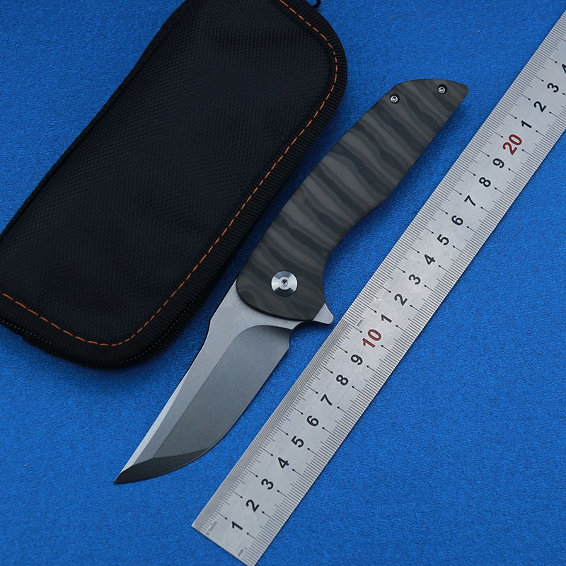 LEMIFSHE Flipper Hokkaido M390 blade folding knife Titanium 3D handle outdoor camping hunting pocket fruit Knives EDC tools in Knives from Tools