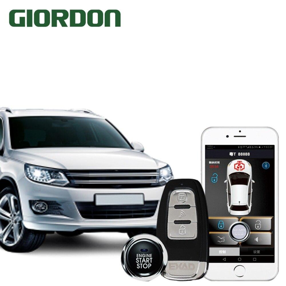 Smartphone contrôle de voiture PKE un-cliquez sur démarrer anti-vol système près de déverrouiller laisser serrure ceinture vibreur fonction