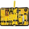 15 unids piezas Kit de herramientas de reparación electrónica para el hogar multímetro de telecomunicaciones de red electrónica + soldador + alicates