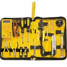 15pcs Home Electronics Repair tools Kit electronic network telecommunications Multimeter+soldering iron+pliers