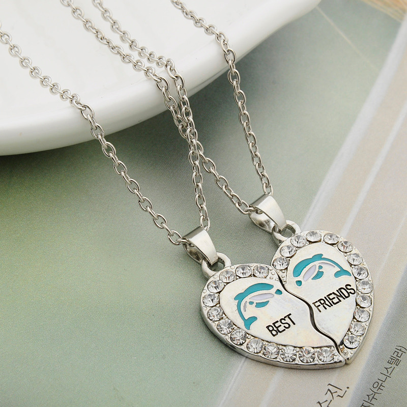 HTB1sWgXUNTpK1RjSZFKq6y2wXXab - 2 PCS/Set Animal Best Friends Friendship Couple Two Parts Pendant Necklace Best Gifts For Men Women BFF Jewelry