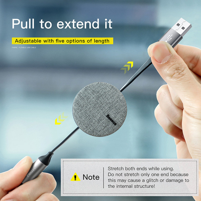 All in One Retractable USB Cable for Phones