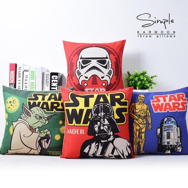 557204bba Star wars travesseiro almofadas de Linho de algodão almofada 18 polegada  para casa Cadeira Do Sofá
