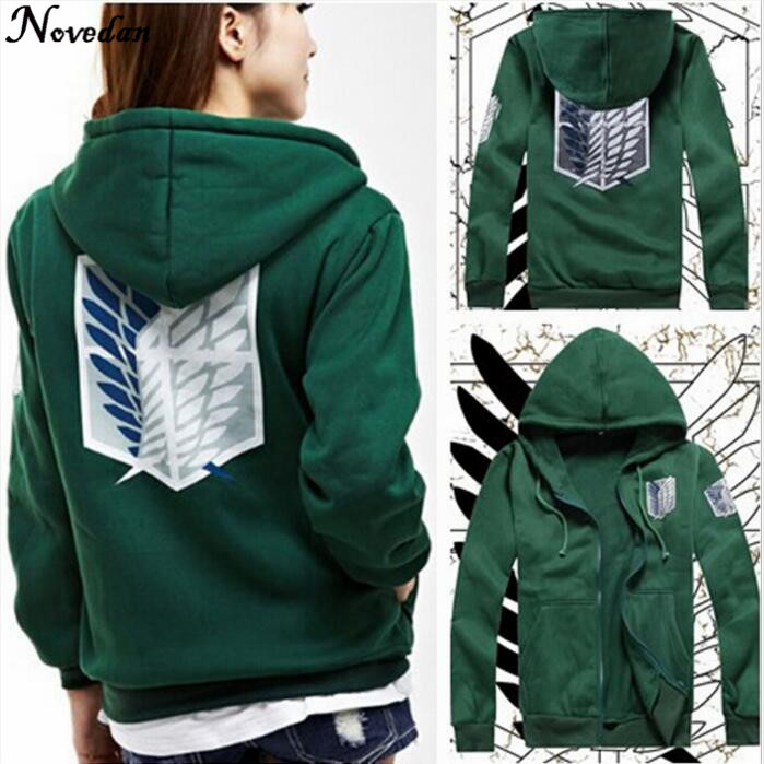 Anime Attack on Titan Cosplay Costumes Hoodie Green Black Scouting Legion Hooded Jacket For Women Men