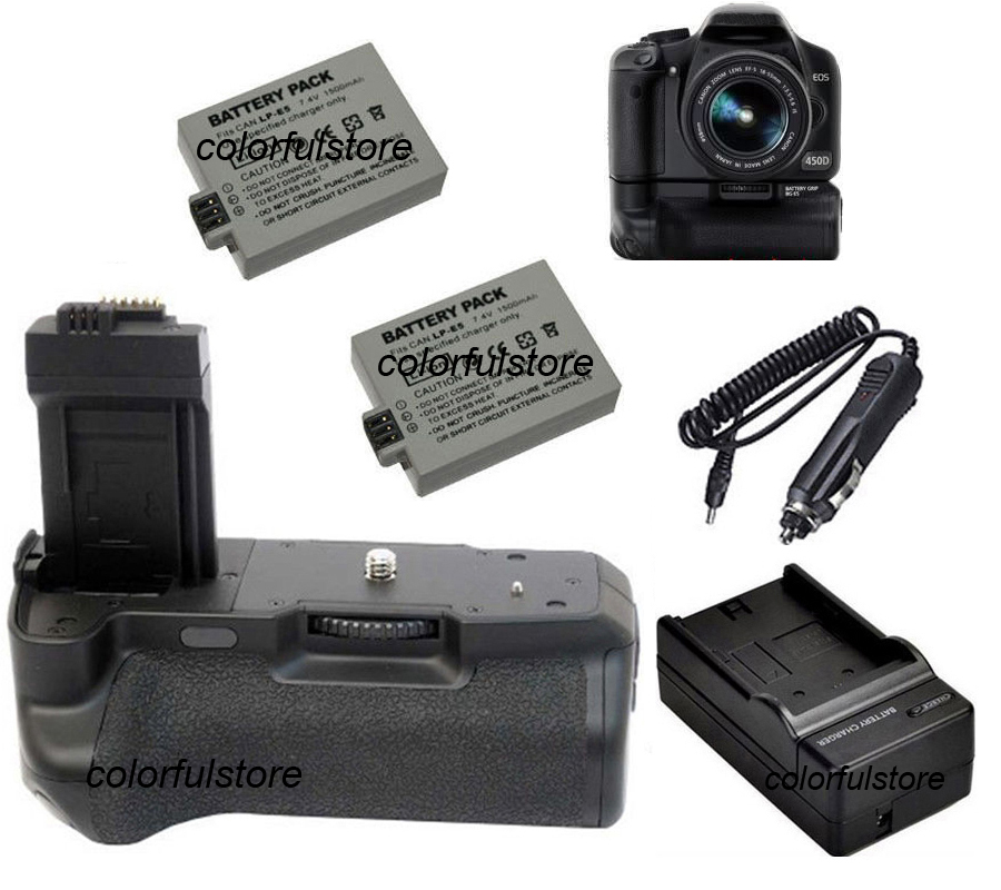 Accessories & Parts For Canon Eos 450d 500d 1000d Camera Battery Lp-e5 Charger Chargers
