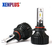 Xenplus Car Light LED H7 H1 H3 H4 HB3 HB4 H11 H8 H27 Auto Headlight 880 9005 9006 5202 H13 8000LM 12V 60W Super Bright Bulbs(China)