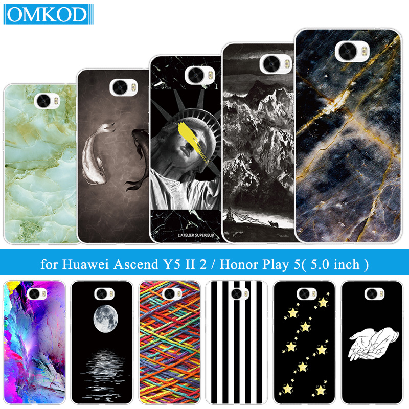 for huawei y5 ii case 5.0 Cover for Huawei Honor 5A Phone Case Soft TPU Silicon fundas For Huawei y5ii Y5 2 Phone Fish Capa