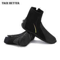 Diving Boots 5MM Neoprene Profession Diving Equipment Zipper Swimming Flippers Keep Warm Swim Socks Rubber Shoes