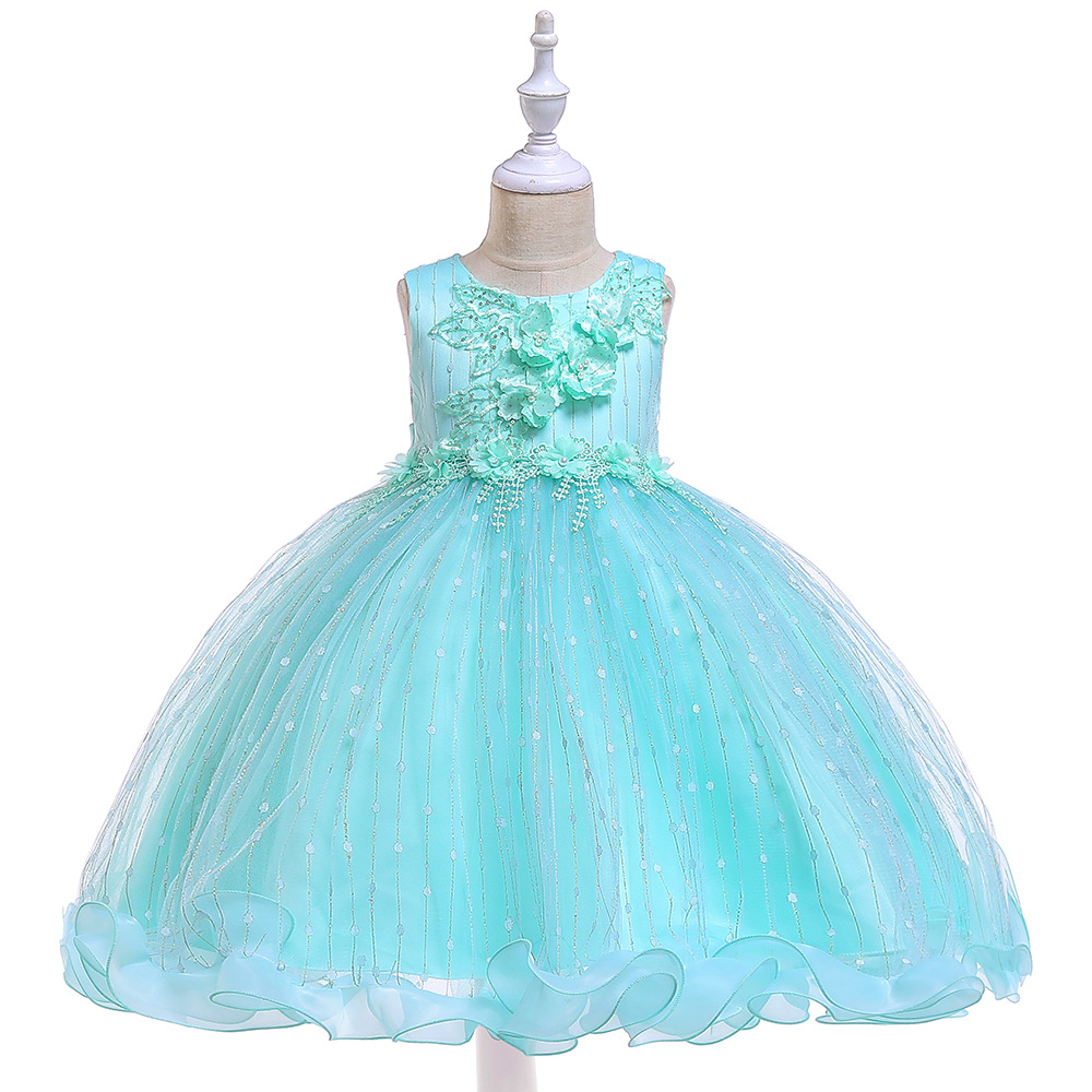 Tulle Grey Sleeveless Ball Gowns   Dress   Princess   Flower     Girls     Dress   Pageant Party