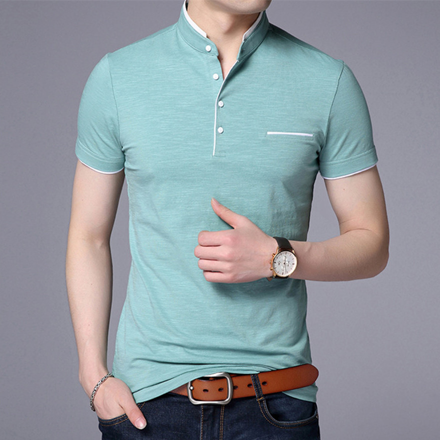 Men Clothes Style 2019 T Shirt For Men Navy White T Shirt Male Summer Black Men Shirt Tops & Tees(China)
