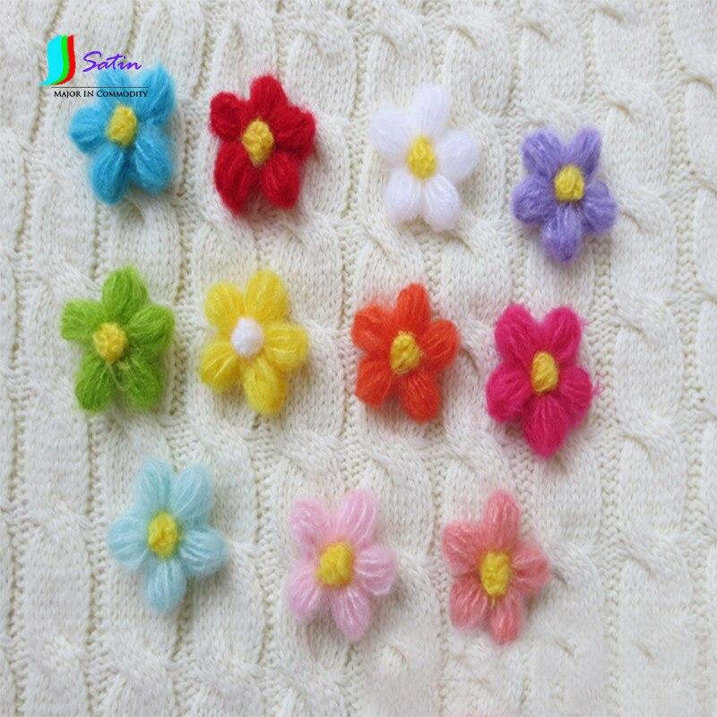 Colorful Mohair Fiore Tridimensionale A Mano Alluncinetto Diy