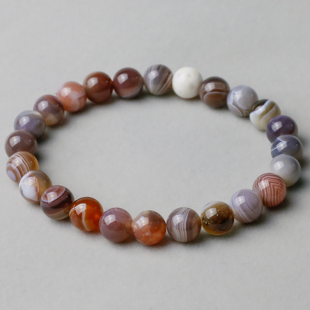 8mm Persian Gulf Natural Onyx Stone Carnelian Round Beads Bracelet for Women and Men Ela ...