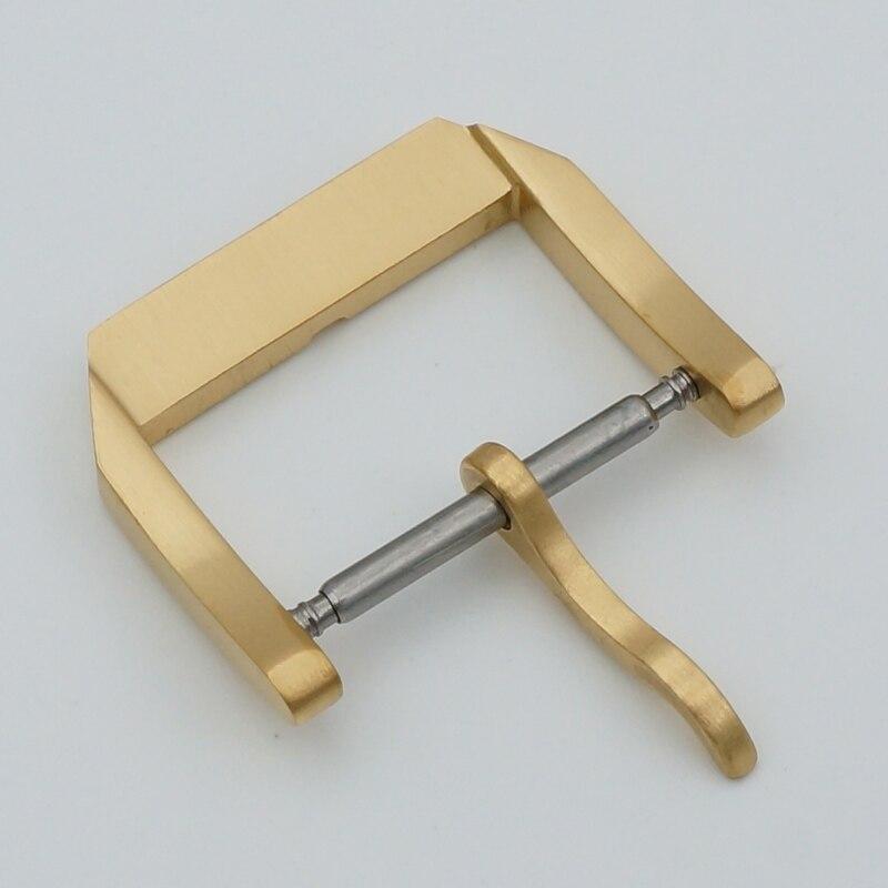 MAIKES Nyt 18mm 20mm guldurspænde læderurbånd 316L rustfrit stål - Tilbehør til ure - Foto 4