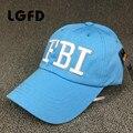 LGFDC13 clásico retro DEL FBI leathher costura ajustable snapbacks gorra de béisbol de algodón