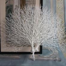 Искусственное дерево ветка Павлин Коралл ветка растения домашний декор реквизит для фотосъемки искусственные растения деревья для свадебной вечеринки