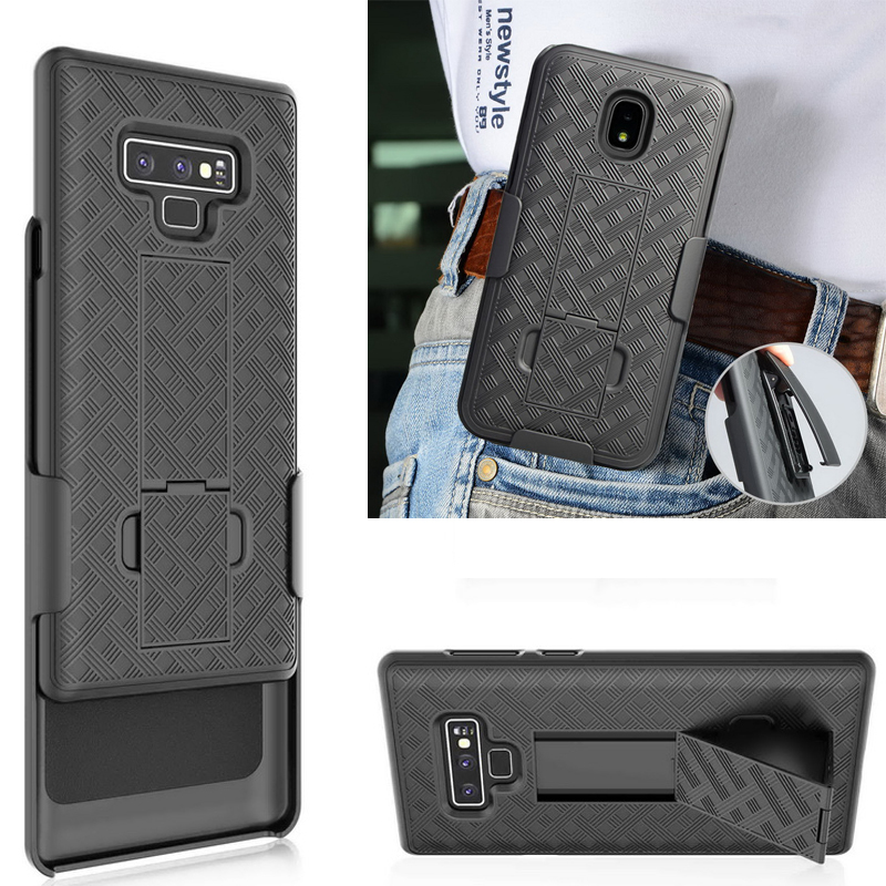 Military Rugged Armor Case For Samsung Galaxy Note 9 S9 S10 E Note8 J7 2018 Kickstand Hard Back Shell Clip Stand Cover
