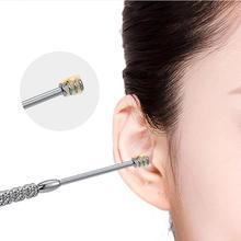 7pcs/set Ear Wax Pickers Cleaner Stainless Steel Earpick Wax Remover Curette Ear Pick Cleaner Ear Cleaner Spoon Epiwax
