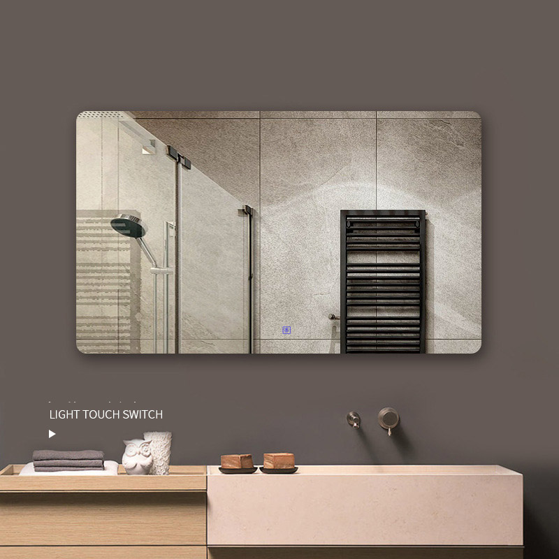 European Wall Mirror LED Light For Bathroom Big Mirrors mural Anti blur Smart Touch Control 220V Warm/White lamp Color Bluetooth 2