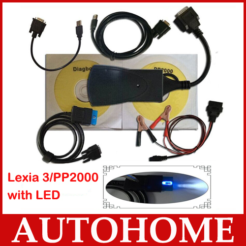 2015 hot with LED CABLE diagbox 7 56 software 2015 Best price lexia3 Diagnostic Tool pp2000