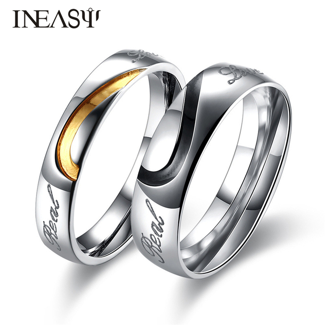 24987cfd39 Couple Rings Fashion Party Stainless Steel Concise Beautiful Creative  Design Jewelry Trendy Ring Gift Women&Men Finger Rings