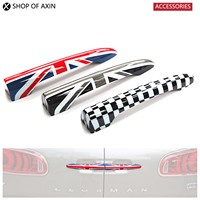 Mini Car Rear Door Handle Decoration Moulding Cover Smooth Surace (Union Jack, Grey UK, Checkered) For Mini Cooper Clubman F54