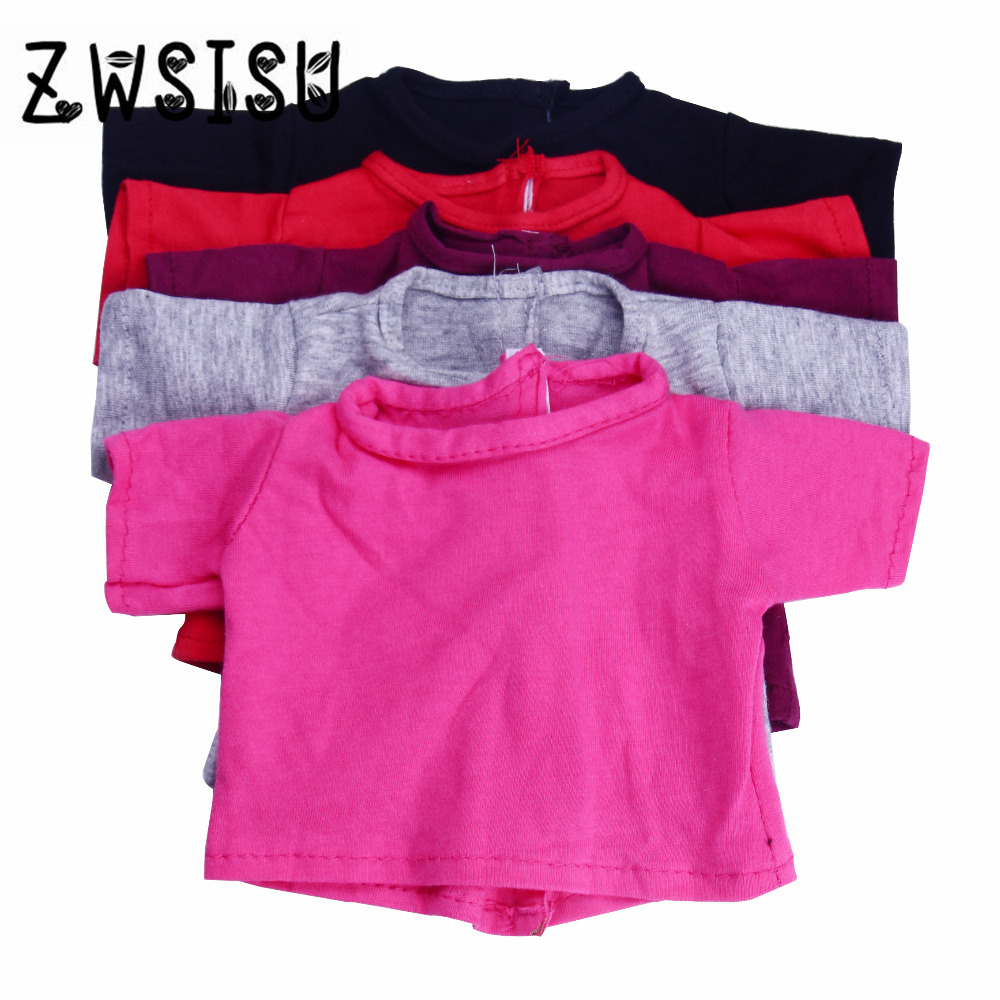 Various styles High quality fashion T shirt For American Girl 43cm Baby Born zapf Doll accessories