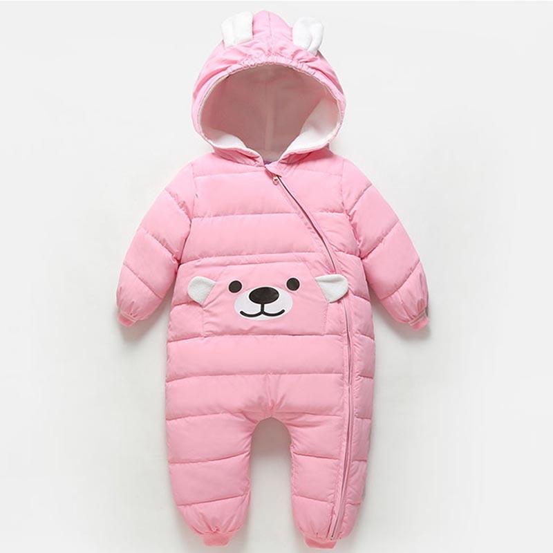 Baby Girls Boy Winter Romper Snowsuit Down Cotton Baby Hoodies Newborn Overalls Kids Clothes Children Jumpsuit Infant Outerwear цена
