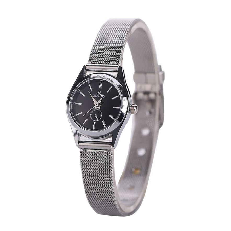 где купить Essential Wristwatch Bangle Bracelet Watches Luxury Women Stainless Steel Band Quartz Gift Sep29 по лучшей цене