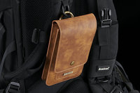Belt Clip Mobile Phone Genuine Cow Leather Case Hook Loop Pouch For HTC Butterfly 3 Desire