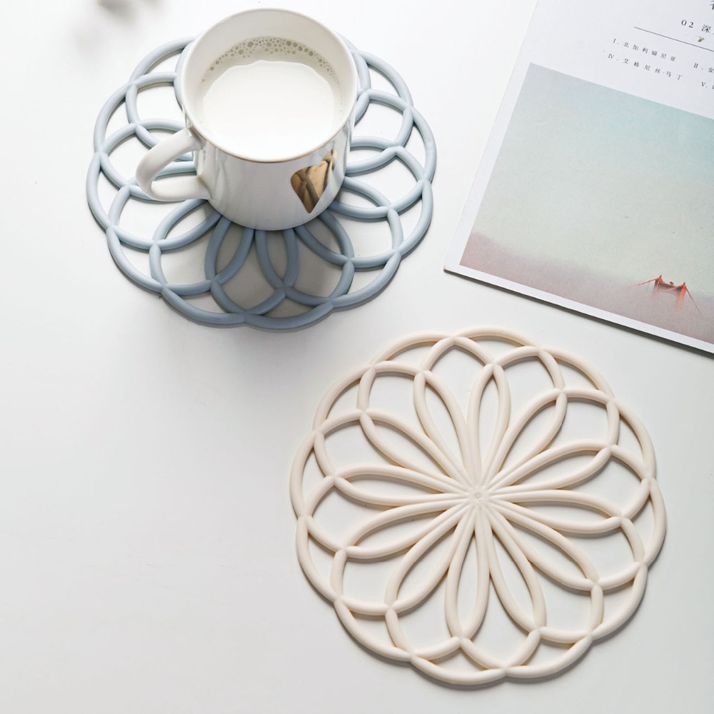 Soft Cup Coaster Coffee Placemat Cup Bowel Pot Mat Drink Coasters Pad Stand Hot Pan Holder Tableware Mats Pads Kitchen Gadgets